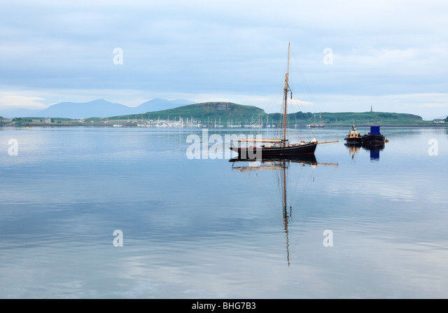 Boats in oban harbour - Stock Image
