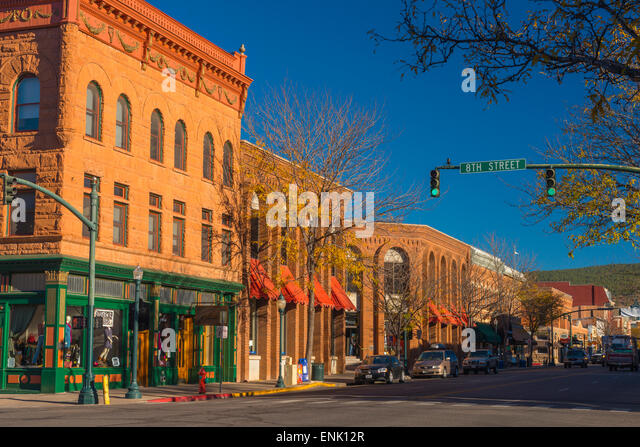 Main Avenue, Durango, Colorado, United States of America, North America - Stock Image