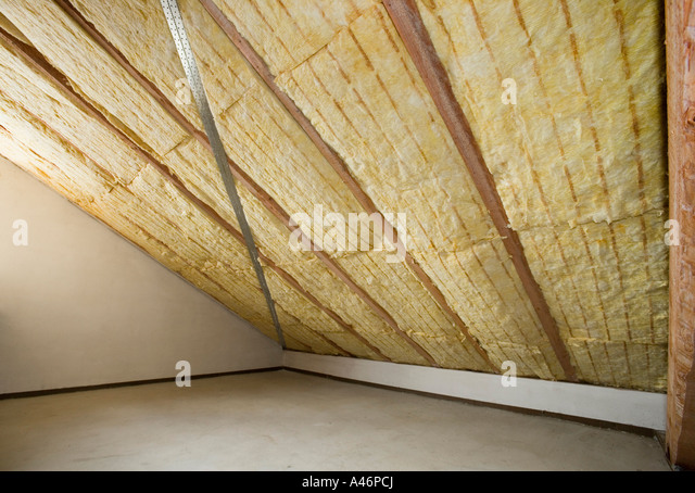 Mineral pitch stock photos mineral pitch stock images alamy - Attic thermal insulation ...