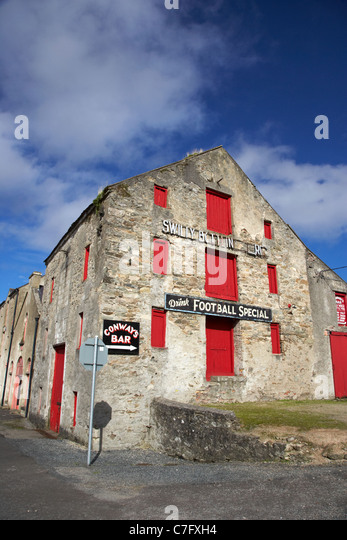 swilly bottling stores in the old warehouses ramelton county donegal republic of ireland - Stock Image