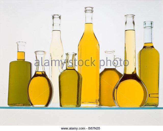 bottles italian oil - Stock-Bilder