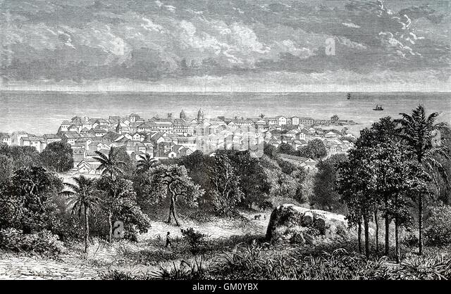 Panama City, the capital of the Republic of Panama, Central America, 19th century - Stock-Bilder