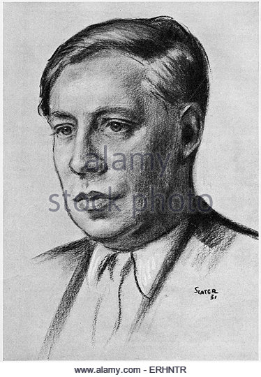 David Garnett- British writer and publisher: 1892-1981. From a drawing by Frank E Slater (dates unknown). - Stock Image