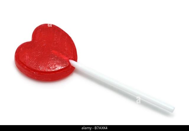 Heart Pop, Lollipop - Stock Image
