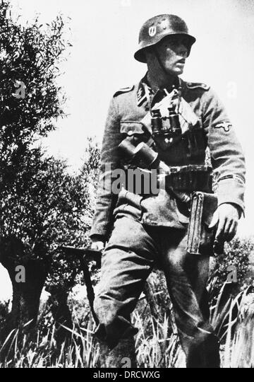 Waffen SS Trooper WWII - Stock-Bilder