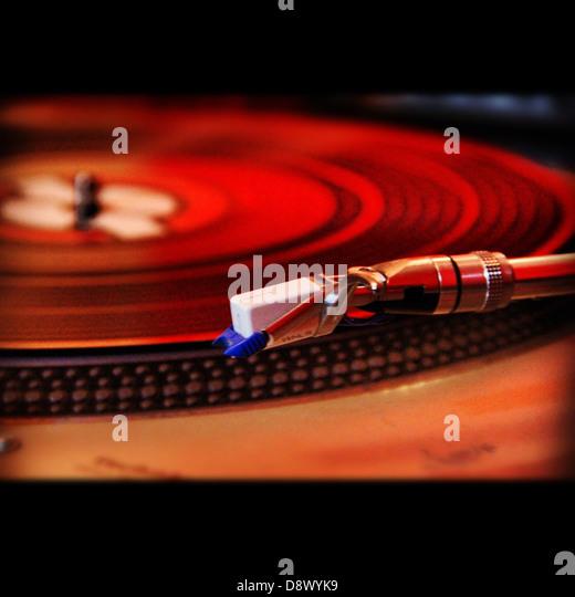 turntable disk disco vinyl retro - Stock Image