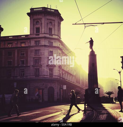 Bilbao, europe , sunset City and light - Stock-Bilder