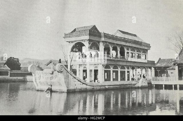 Marble Palace - Imperial Palace - Beijing, China, circa 1890 - Stock Image
