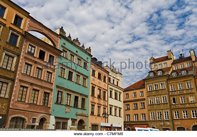 Warsaw Old Town - Stock Image