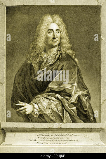 Michel Baron - portrait of the French actor. 1653-1729 - Stock Image
