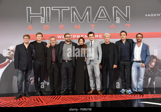 Berlin, Germany. 19th Aug, 2015. Rupert Friend, Hannah Ware, Rolf Kanies, Thomas Kretschmann, Aleksander Bach, Adrian - Stock Image