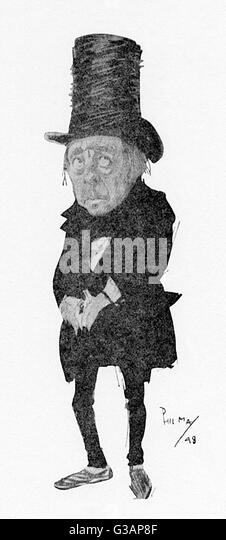 'Snecky' in 'The Little Minister'. The role of Hayfus 'Snecky' Hobart in the dramatisation - Stock Image