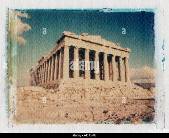 Parthenon, Acropolis, Athens, Greece - Stock Image