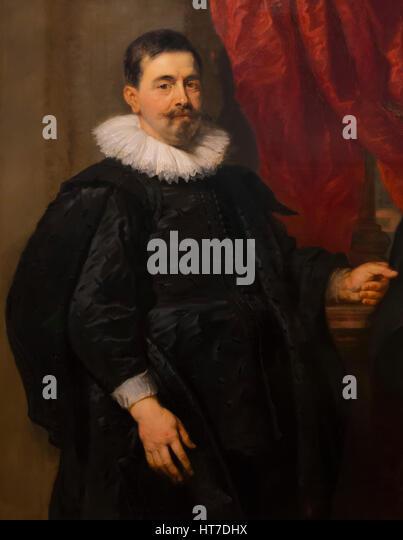 Portrait of a Man, possibly Peter van Hecke, by Peter Paul Rubens, circa 1630, Royal Art Gallery, Mauritshuis Museum, - Stock Image