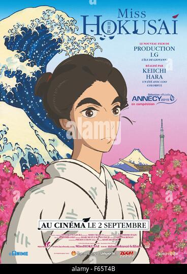 Miss Hokusai Sarusuberi: Miss Hokusai Year : 2015 Japan Director : Keiichi Hara Animation Movie poster (Fr) - Stock Image