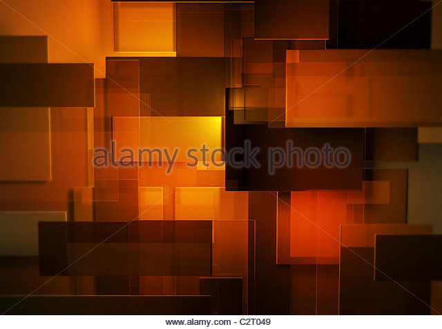 Abstract montage of orange and red rectangles - Stock Image