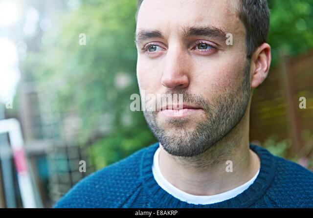 Close up of man with beard - Stock-Bilder