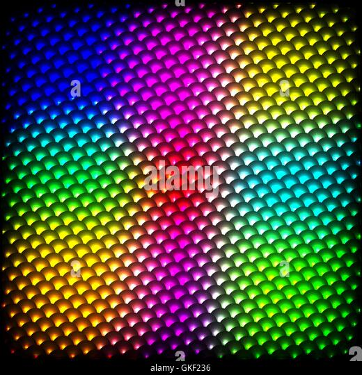 Abstract spectrum dark background with colored sparkles. - Stock-Bilder