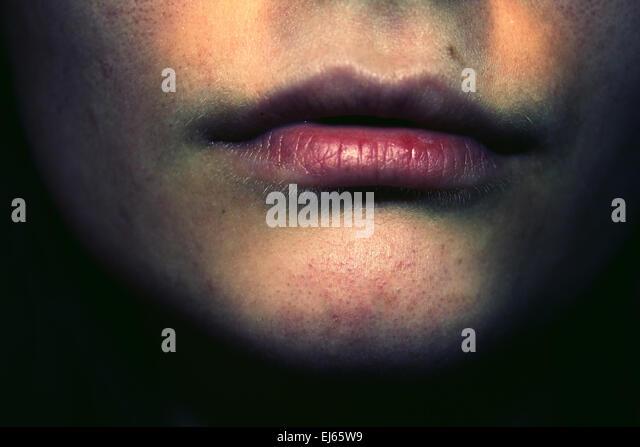 dark photography, unhappy, depression, self-harm, suicide, portrait, portraiture, an, troubles, worries, health, - Stock Image