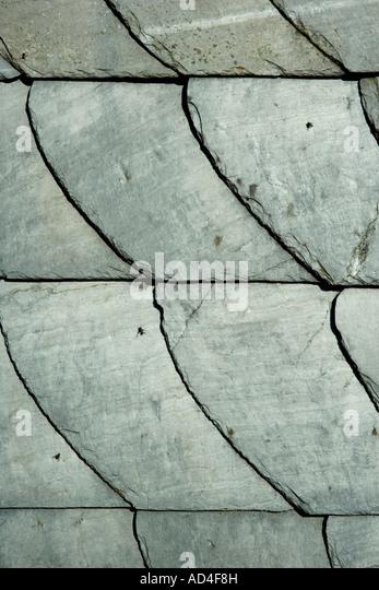 Slate roof tiles - Stock Image