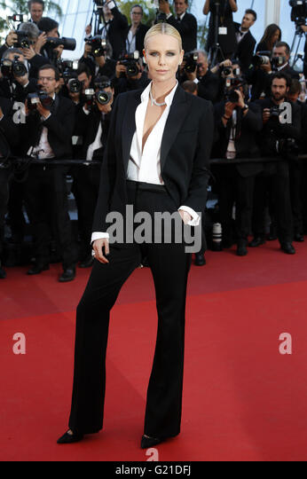 Charlize Theron attending the 'The Last Face' premiere during the 69th Cannes Film Festival at the Palais - Stock Image