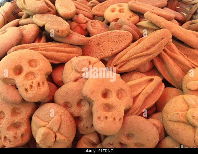 Squelett biscuit días muertos Mexico City cdmx - Stock Image