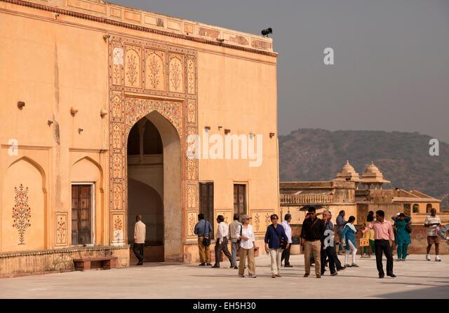 Amber Fort courtyard, Jaipur, Rajasthan, India, Asia - Stock-Bilder