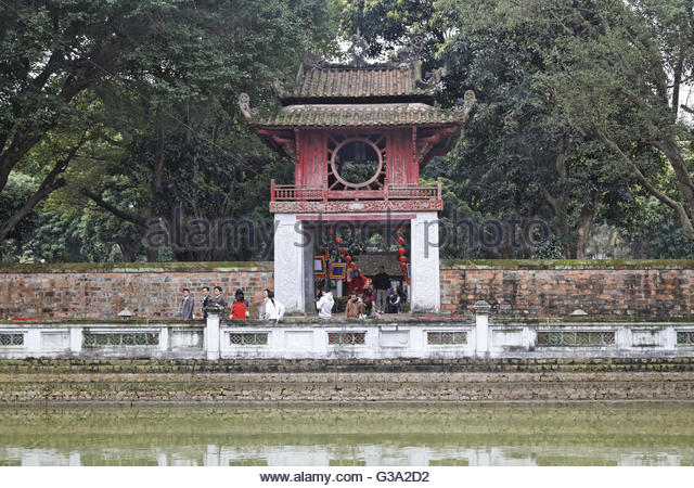 Asia, Vietnam, Hanoi, Temple of Literature - Stock Image