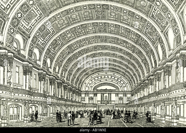 People s Palace London U K 1887 the Queen s hall opened by Her Majesty London - Stock Image
