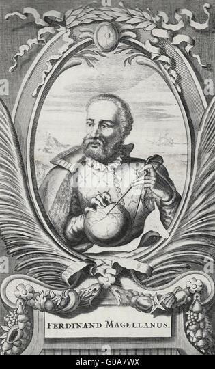Ferdinand Magellan - Spanish Explorer - Stock Image