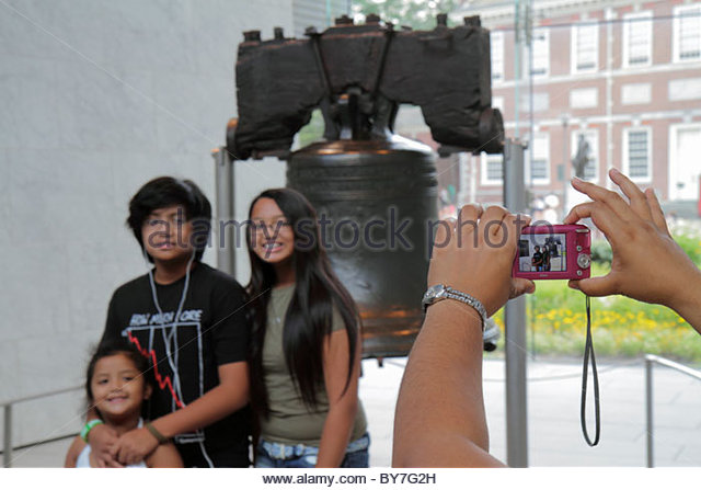 Philadelphia Pennsylvania Liberty Bell Independence Hall National Historical Park history government American Revolution - Stock Image