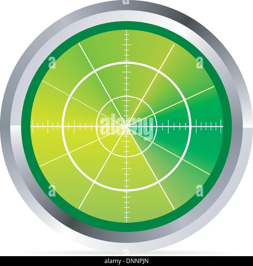Illustration of radar or oscilloscope monitor - Stock Image