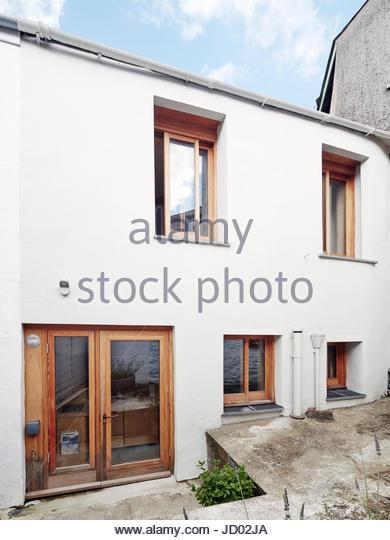 Rear facade. Studio Totnes, Totnes, United Kingdom. Architect: David Sheppard Architects, 2016. - Stock-Bilder