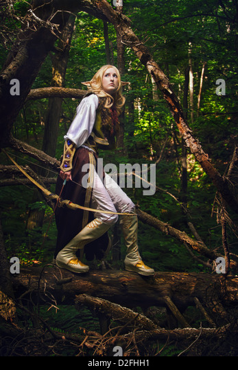Elf From The Woods - Stock Image