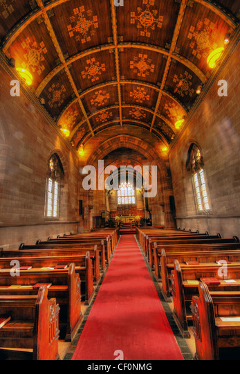 Walton St John Evangelist Church interior Warrington - Stock Image