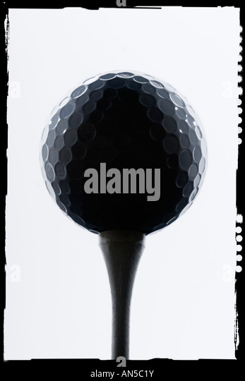 artistic portrait of a golf ball - Stock Image