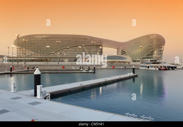 Yas Viceroy Hotel, Abu Dhabi, United Arab Emirates - Stock Image