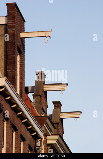 Pulley hooks for Amsterdam houses - Stock Image