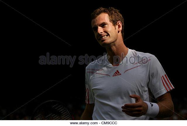 28/06/2012 - Wimbledon (Day 4) - Ivo KARLOVIC (CRO) vs. Andy MURRAY (GBR) - Andy Murray - Photo: Simon Stacpoole - Stock-Bilder