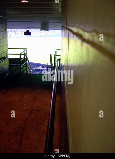 Corridor at Yankee Stadium in The Bronx New York City - Stock Image
