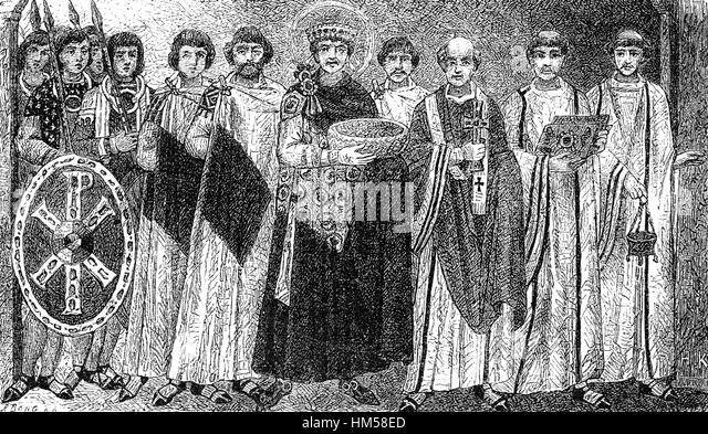 Justinian I, Justinian the Great, 482-565, East Roman emperor - Stock-Bilder