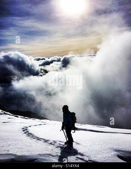 Mount Stanley margherita peak Rwenzori mountains - Stock-Bilder