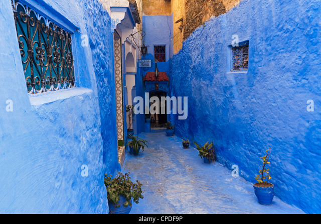 Chefchaouen (Chaouen), Tangeri-Tetouan Region, Rif Mountains, Morocco, North Africa, Africa - Stock Image