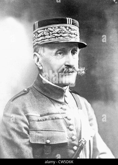 Portrait of Marshal Foch - Stock Image