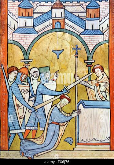 the death of thomas becket in canterbury cathedral Appointed thomas becket, as archbishop of canterbury a tunnel into the cathedral thomas becket was on his way to evening after becket's death.