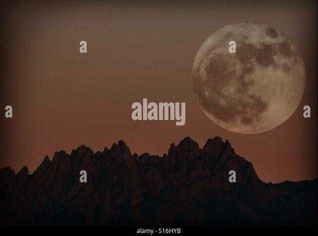 My vision of the Super Moon - Stock Image