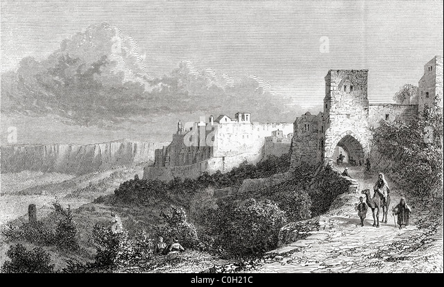 Bethlehem, Palestine in the 19th century. - Stock Image