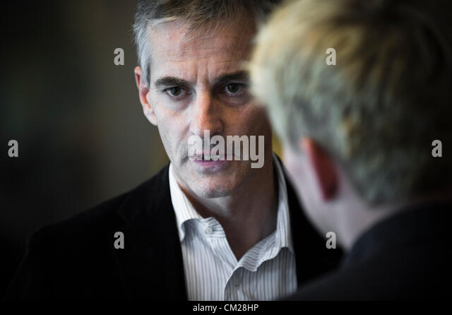 Oslo, Norway. 18/09/2012. Minister of foreign affairs in Norway Jonas Gahr Store. - Stock Image