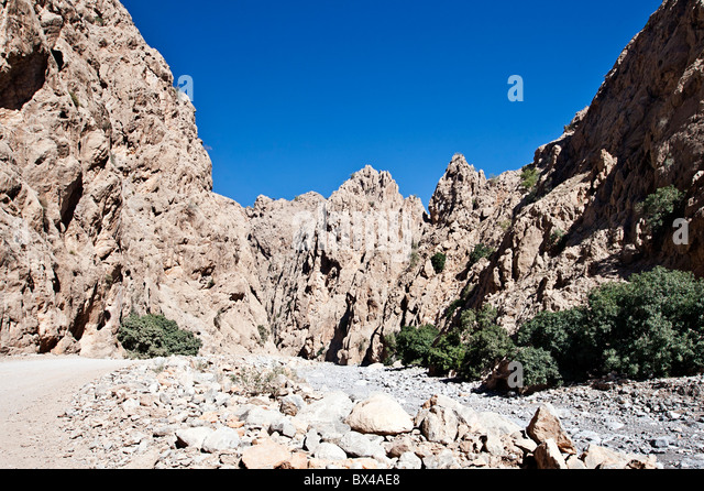 Shot in Wadi Bih, Oman - Stock Image