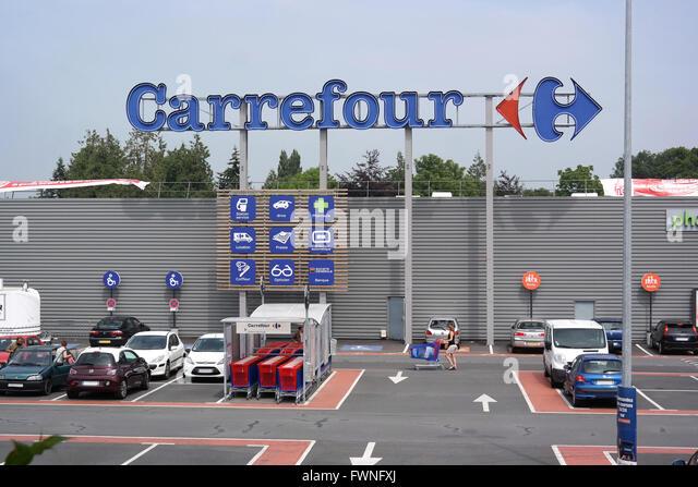 carrefour supermarket france stock photos carrefour. Black Bedroom Furniture Sets. Home Design Ideas
